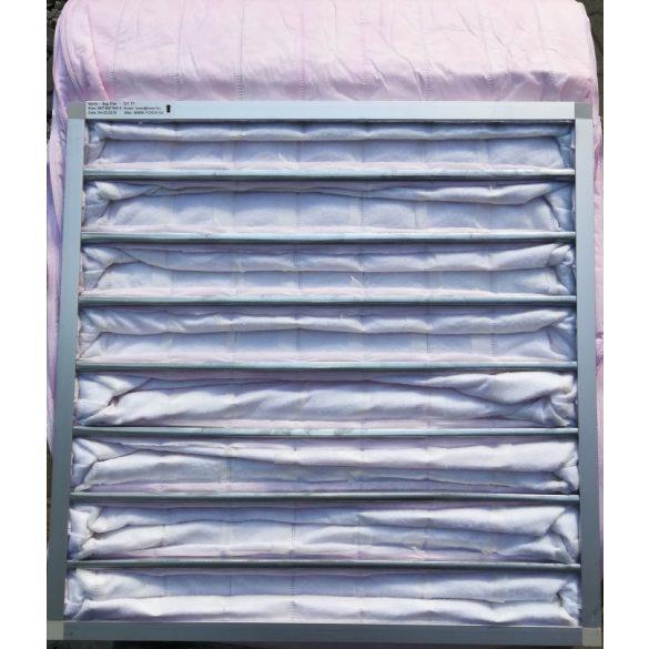 FOXER táskás szűrő 592 x 592 x 550-8 / F7 poliészter szétszerelhető alumínium keretes