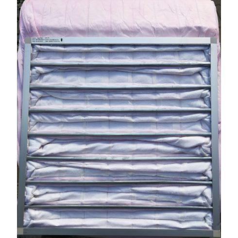FOXER táskás szűrő 592 x 592 x 550-8 / F5 poliészter szétszerelhető alumínium keretes